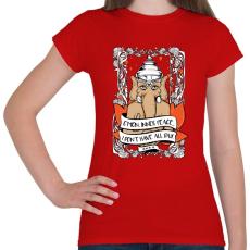PRINTFASHION Belső béke - Női póló - Piros