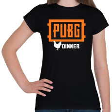 PRINTFASHION PUBG DINNER - Női póló - Fekete