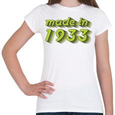 PRINTFASHION made-in-1933-green-grey - Női póló - Fehér