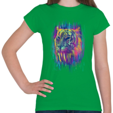 PRINTFASHION Tigris - Női póló - Zöld