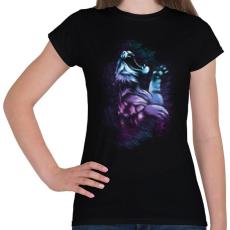 PRINTFASHION Tigriscsapás - Női póló - Fekete