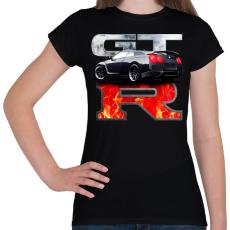 PRINTFASHION Nissan GTR - Női póló - Fekete