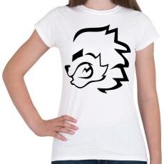 PRINTFASHION stencil oroszlán - Női póló - Fehér