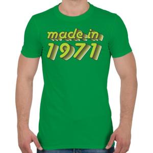 PRINTFASHION made-in-1971-green-grey - Férfi póló - Zöld