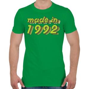 PRINTFASHION made-in-1992-green-grey - Férfi póló - Zöld