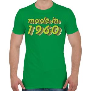 PRINTFASHION made-in-1960-green-grey - Férfi póló - Zöld