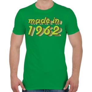 PRINTFASHION made-in-1962-green-grey - Férfi póló - Zöld