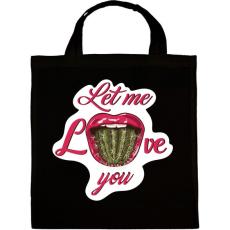 PRINTFASHION Engedd, hogy szeresselek! - Vászontáska - Fekete