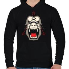 PRINTFASHION Gorillaz - Férfi kapucnis pulóver - Fekete