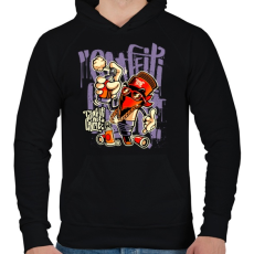 PRINTFASHION A graffiti nem bűncslekmény - Férfi kapucnis pulóver - Fekete