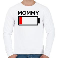 PRINTFASHION MOMMY - Férfi pulóver - Fehér
