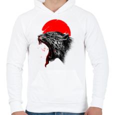 PRINTFASHION Vérfürdő - Férfi kapucnis pulóver - Fehér