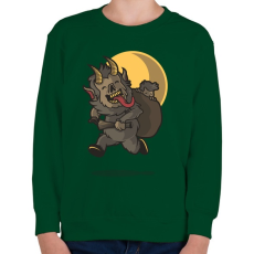 PRINTFASHION KRAMPUSZ - Gyerek pulóver - Sötétzöld