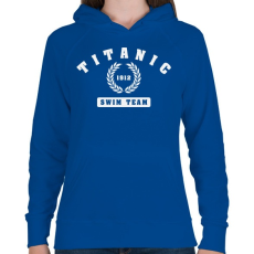 PRINTFASHION titanic-swim-team-white - Női kapucnis pulóver - Királykék