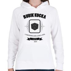 PRINTFASHION rubik-kocka-black-white - Női kapucnis pulóver - Fehér