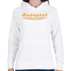 PRINTFASHION budapest-ikarus-orange - Női kapucnis pulóver - Fehér