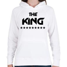 PRINTFASHION The King - Női kapucnis pulóver - Fehér