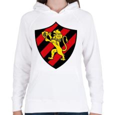 PRINTFASHION Escudo Logo - Női kapucnis pulóver - Fehér