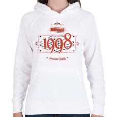 PRINTFASHION since-1998-red-black - Női kapucnis pulóver - Fehér
