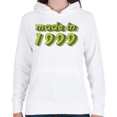 PRINTFASHION made-in-1999-green-grey - Női kapucnis pulóver - Fehér