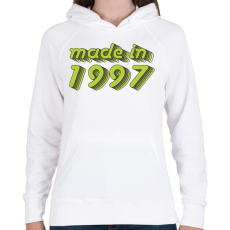 PRINTFASHION made-in-1997-green-grey - Női kapucnis pulóver - Fehér