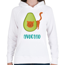 PRINTFASHION Avocato - Női kapucnis pulóver - Fehér
