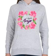 PRINTFASHION A legjobb Anya - Női kapucnis pulóver - Sport szürke