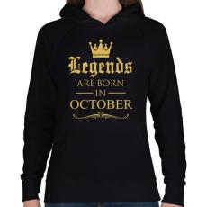 PRINTFASHION A legendák szeptemberben születnek - Női kapucnis pulóver - Fekete