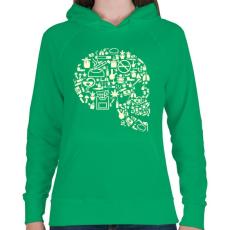 PRINTFASHION Gyilkos füst - Női kapucnis pulóver - Zöld
