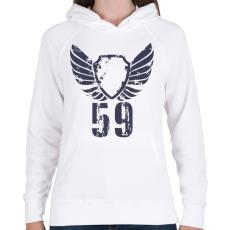 PRINTFASHION 59gbl.png - Női kapucnis pulóver - Fehér