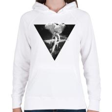 PRINTFASHION War godess - Női kapucnis pulóver - Fehér