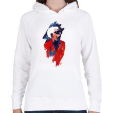 PRINTFASHION Emett Doc - Női kapucnis pulóver - Fehér