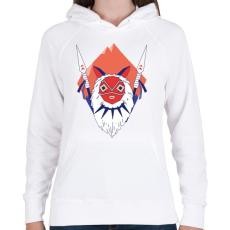 PRINTFASHION Princess Mononoke - Női kapucnis pulóver - Fehér