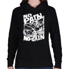 PRINTFASHION Fájdalom nélkül nincs siker - Női kapucnis pulóver - Fekete
