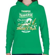 PRINTFASHION Kiinduló pont - Női kapucnis pulóver - Zöld