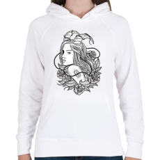 PRINTFASHION Lidérc - Női kapucnis pulóver - Fehér