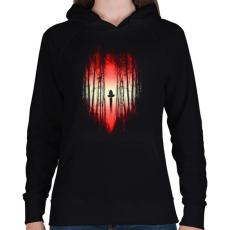 PRINTFASHION A Csata kezdete - Női kapucnis pulóver - Fekete