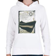 PRINTFASHION Szerencsétlen nap - Női kapucnis pulóver - Fehér