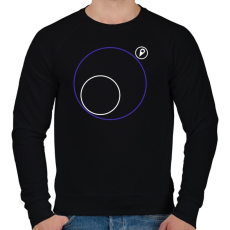 PRINTFASHION PUBG körön kívül - Férfi pulóver - Fekete