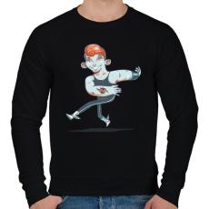 PRINTFASHION Táncos - Férfi pulóver - Fekete