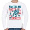PRINTFASHION Amerikai foci - Férfi pulóver - Fehér
