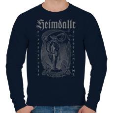 PRINTFASHION Heimdallr - Férfi pulóver - Sötétkék