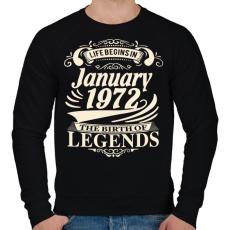 PRINTFASHION 1972 Január -  A legenda megszületett - Férfi pulóver - Fekete