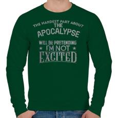 PRINTFASHION Exciting apocalypse - Férfi pulóver - Sötétzöld