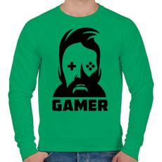 PRINTFASHION GAMER - Férfi pulóver - Zöld