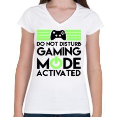 PRINTFASHION Gaming - Női V-nyakú póló - Fehér