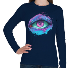 PRINTFASHION Őrző - Női hosszú ujjú póló - Sötétkék