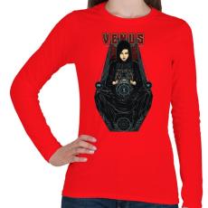 PRINTFASHION Vénusz - Női hosszú ujjú póló - Piros