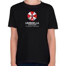 PRINTFASHION Umbrella Corp. - Gyerek póló - Fekete