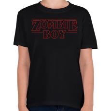 PRINTFASHION Zombi fiú - Gyerek póló - Fekete